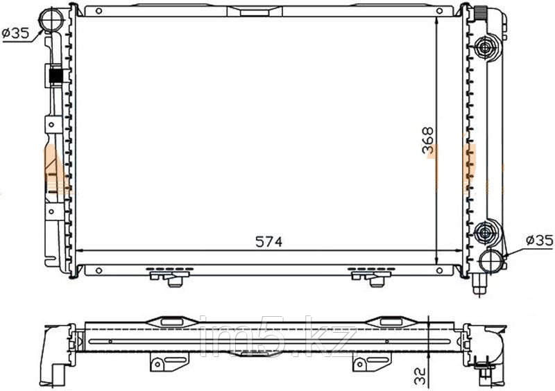 Радиатор MERCEDES C-CLASS W201 83-93