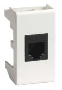 Ком.роз. RJ45 кат.5e экран. (8P8C, Hyperline, Dual IDC: 110&Krone) Viva, белая, 1мод