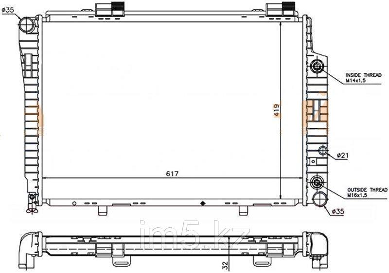 Радиатор MERCEDES C-CLASS W202 93-00