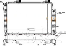 Радиатор MERCEDES SLK-CLASS W170 96-04
