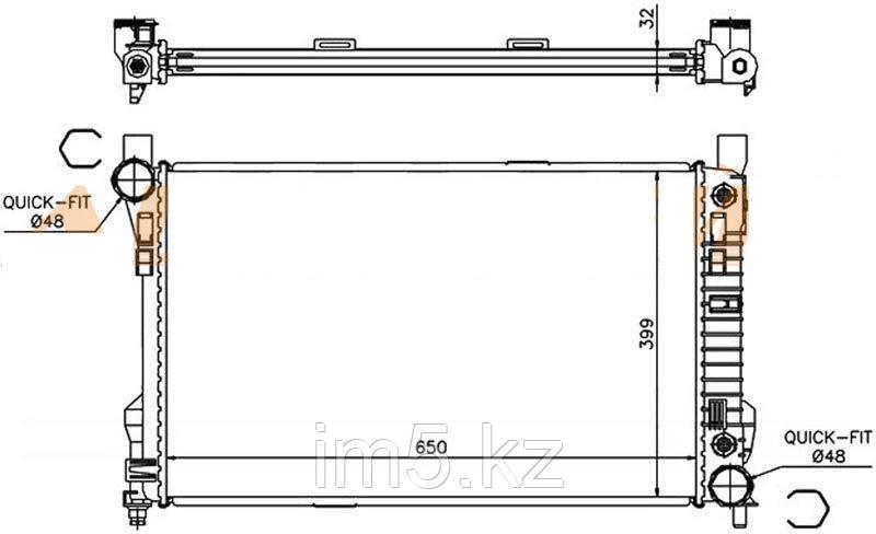 Радиатор MERCEDES C-CLASS W203 00-07