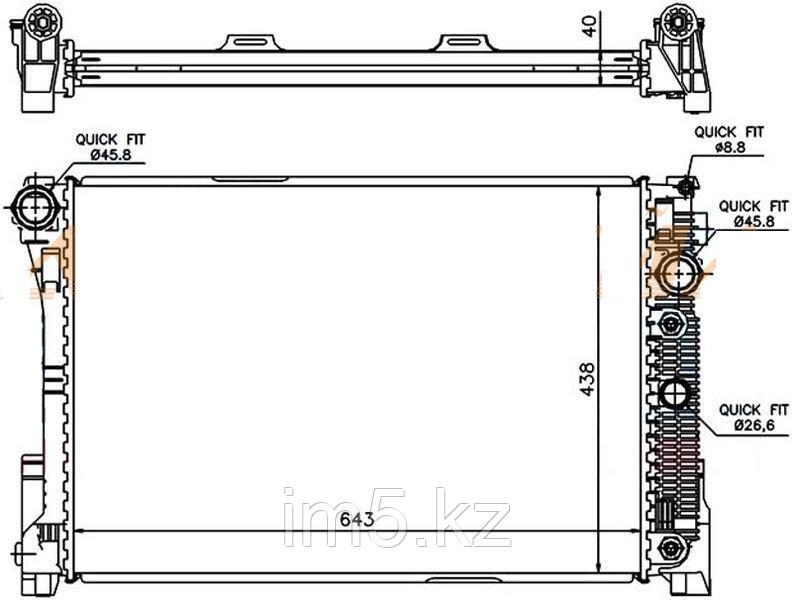 Радиатор MERCEDES C-CLASS W204 06-14(дизель)