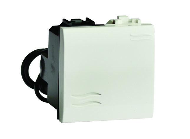 Выключатель с подсветкой, черный, 2мод.