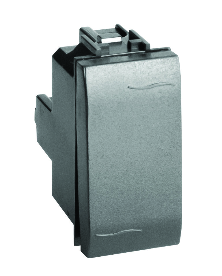 Инвертор (промежуточный переключатель), черный, 1мод.