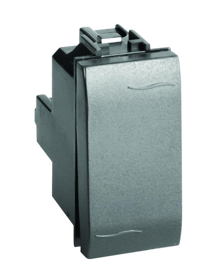 Двухполюсный выключатель, черный, 1мод.