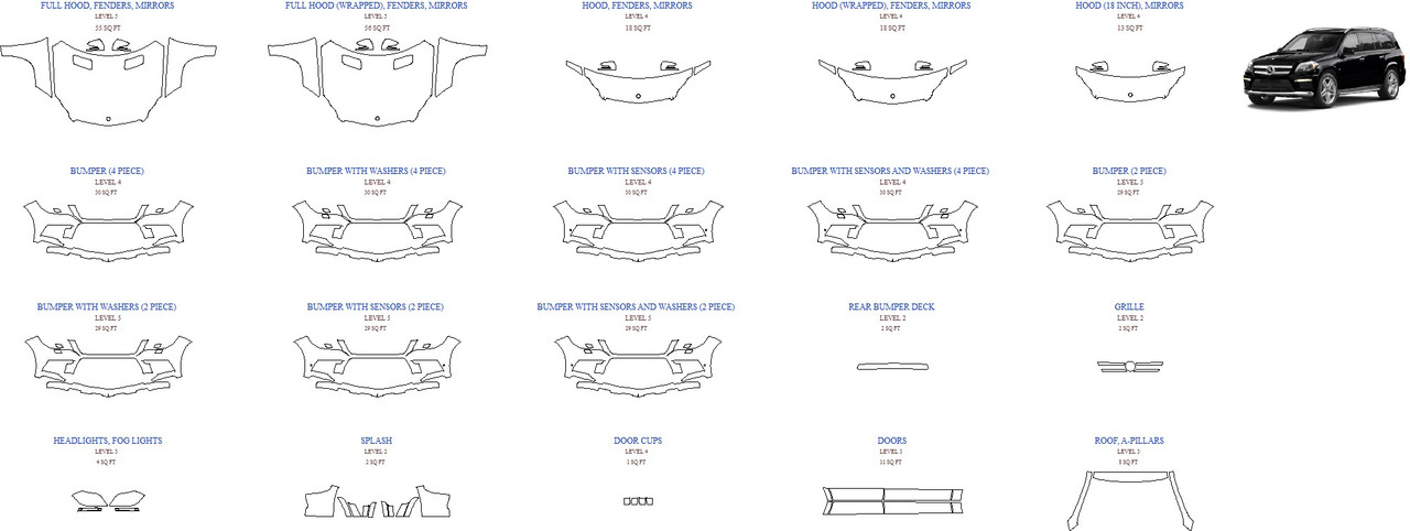 Антигравинйая защита авто 2016 MERCEDES GL-CLASS GL63 AMG