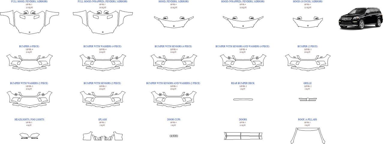 Антигравинйая защита авто 2016 MERCEDES GL-CLASS GL550