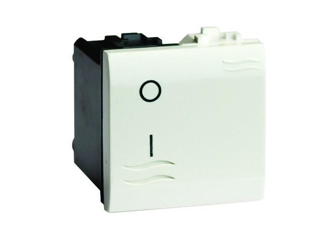 Двухполюсный выключатель с подсветкой, белый, 2мод.