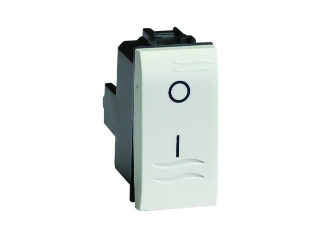 Двухполюсный выключатель, белый, 1мод.