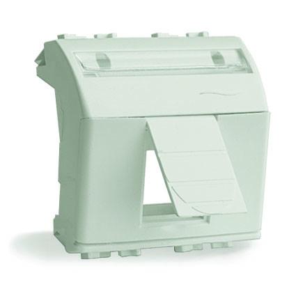 Адаптер для информационных разъемов R&M, белый, 2 мод.