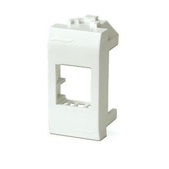 Адаптер для информационных разъемов Keystone, белый, 1мод.