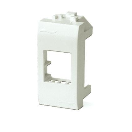 Адаптер для информационных разъемов SIEMON, белый, 1мод.