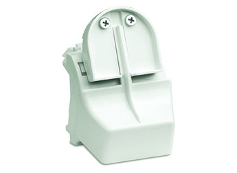 Адаптер для оптоволоконных разъемов 2хST, c системой пломбировки, белый, 2мод.