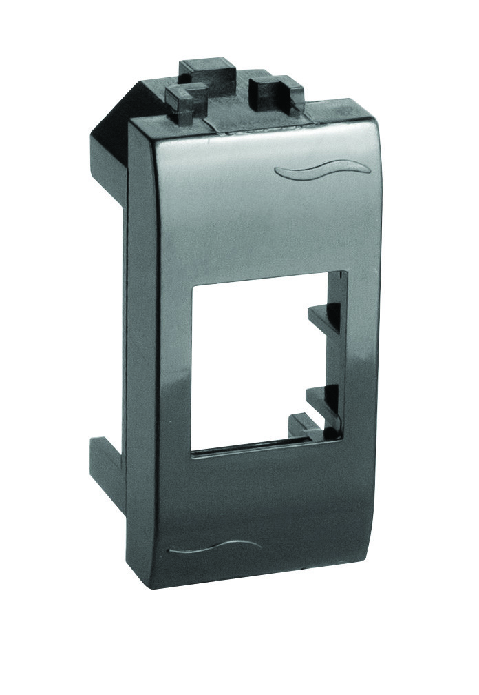 Адаптер для информационных разъемов Keystone, черный, 1мод.