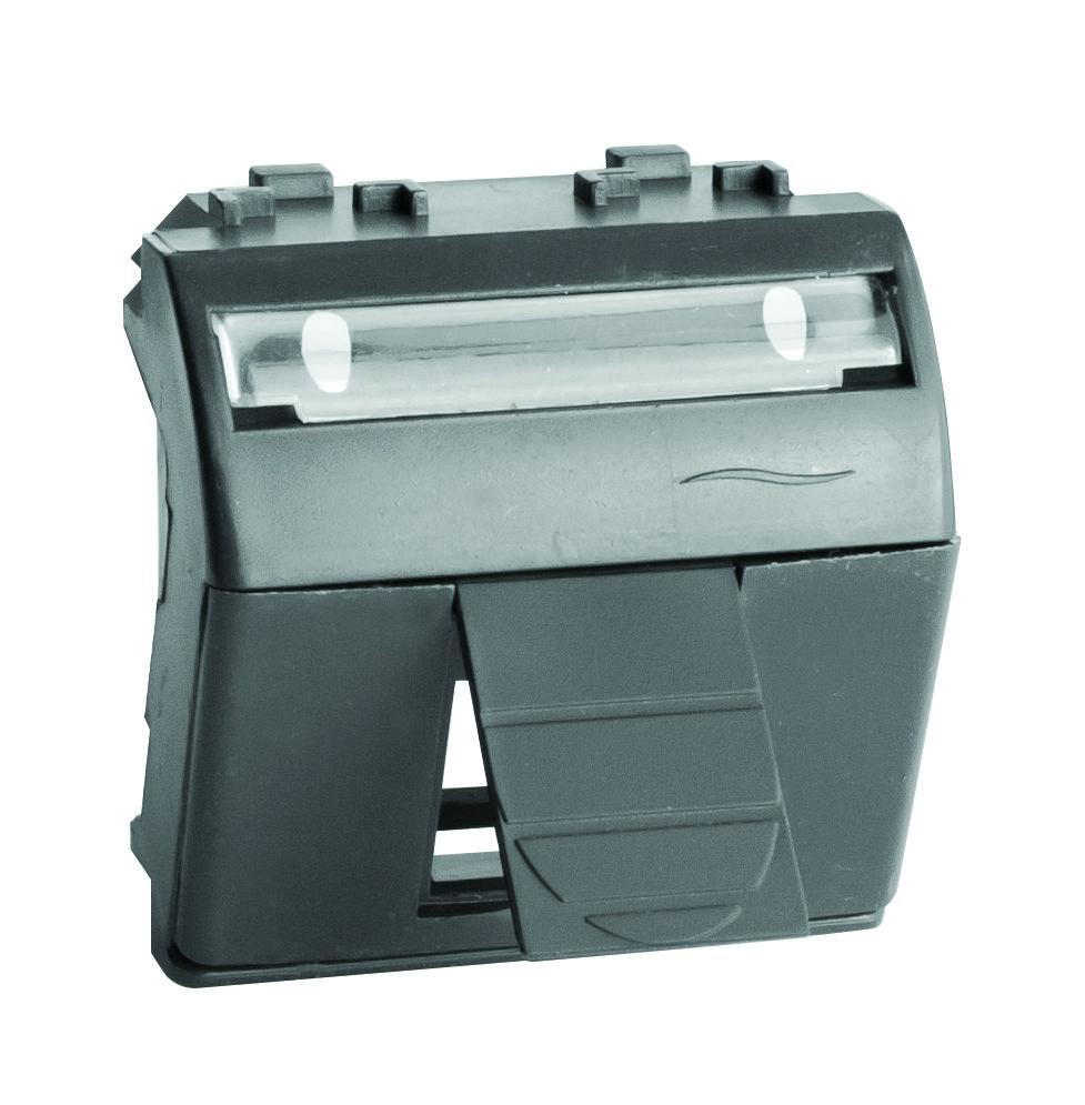 Адаптер для информационных разъемов R&M, черный, 2мод.