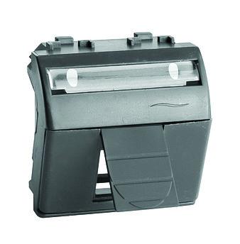 Адаптер для информационных разъемов Keystone, черный, 2мод.