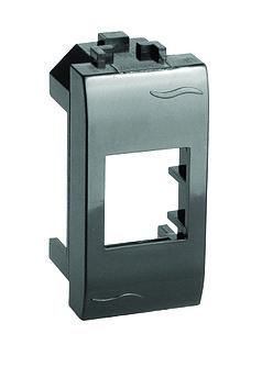 Адаптер для информационных разъемов SIEMON, черный, 1мод.
