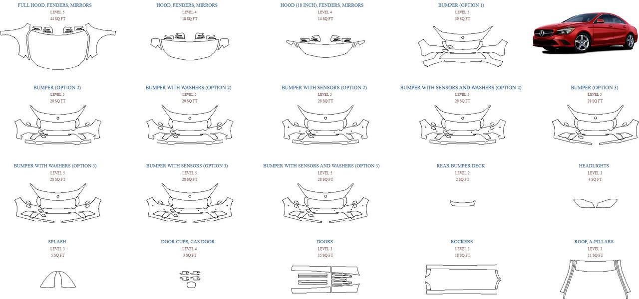 Антигравинйая защита авто 2015 MERCEDES CLA-CLASS CLA250 BASE