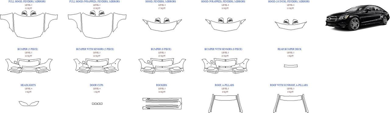 Антигравинйая защита авто 2015 MERCEDES CLS-CLASS CLS550