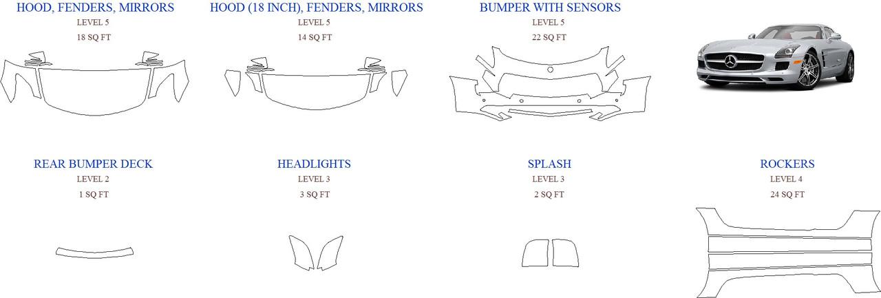 Антигравинйая защита авто 2015 MERCEDES SLS-CLASS SLS AMG