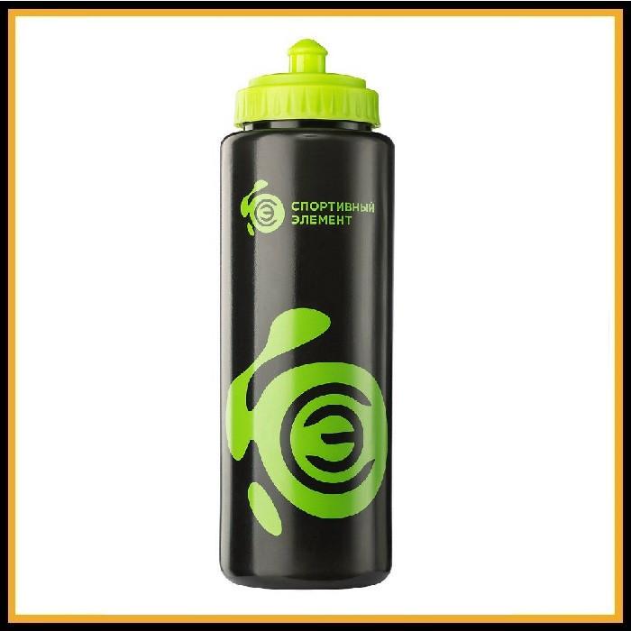 Бутылка бутылка черно-зеленая 1000мл