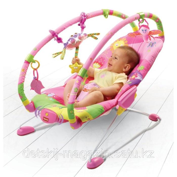 Вибрирующее кресло шезлонг Tiny Love с дугами и игрушками