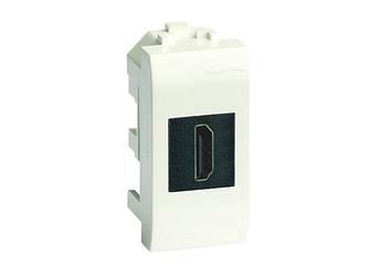 USB 2.0 розетка, Brava, белая, 1 мод.