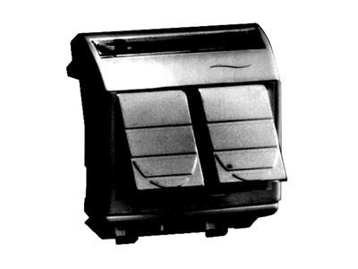 Ком.роз. двойная RJ45 кат.6 экран. (8P8C, Hyperline, Dual IDC: 110&Krone) Brava, черн., 2мод