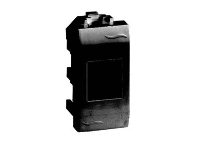 Ком.роз. RJ45 кат.5e экран. (8P8C, Hyperline, Dual IDC: 110&Krone) Brava, черн., 1мод