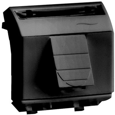 Ком.роз. RJ45 кат.6 экран. (8P8C, Hyperline, Dual IDC: 110&Krone) Brava, черн., 2мод