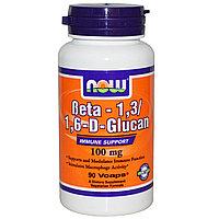 Бета-1,3/1,6-D-Глюкан, 100 мг, 90 растительных капсул.