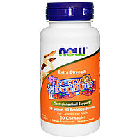 Пробиотик для детей с ягодным вкусом. 10 млрд. бактерий в 1 жевательной таблетке. 50 шт. Now Foods