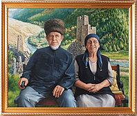 Портрет на фоне родовои башни