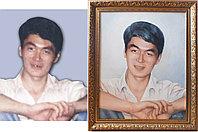Портрет молодого человека маслом.