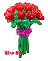 Цветок сердце из шариков в Павлодаре, фото 1
