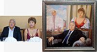 Семейный портрет по фото на фоне Астаны. Алматы