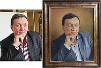Портрет маслом по фотографии в подарок. Выполнен по фотографии.