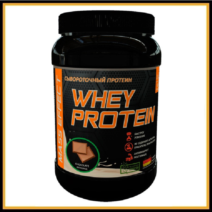 MASS EFFECT 100% Gold Whey 1,02кг (клубника)