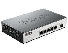 D-link DGS-1100-06/ME коммутатор 5 портов 10/100/1000Base-T и 1 SFP-порт