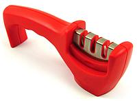 Ручная точилка для ножей 3 в 1 красная (ножеточка)