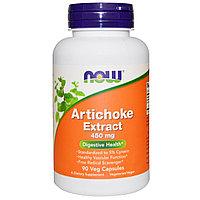 Экстракт артишока, 450 мг, 90 вегетарианских капсул.  Now Foods, фото 1