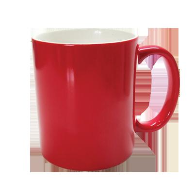 Кружка для сублимации  «хамелеон», красная (матовая)