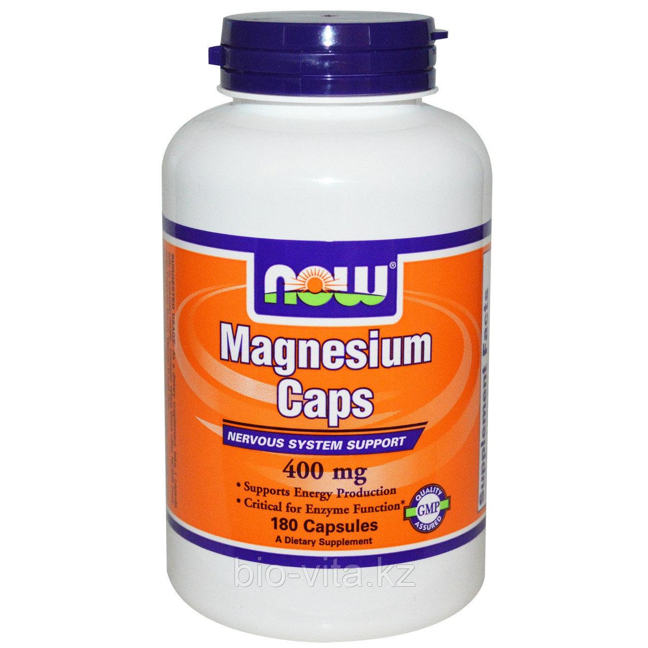 Mагний  400 мг. 180 капсул. Now Foods
