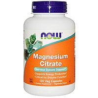 Магний цитрат 120 капсул 150 мг. Now Foods