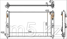 Радиатор MITSUBISHI OUTLANDER XL 10-13