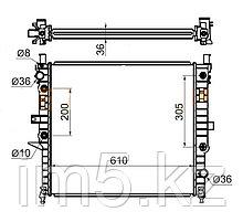 Радиатор MERCEDES M-CLASS W163 98-04