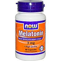 Мелатонин, 3 мг, 60 капсул. Now Foods