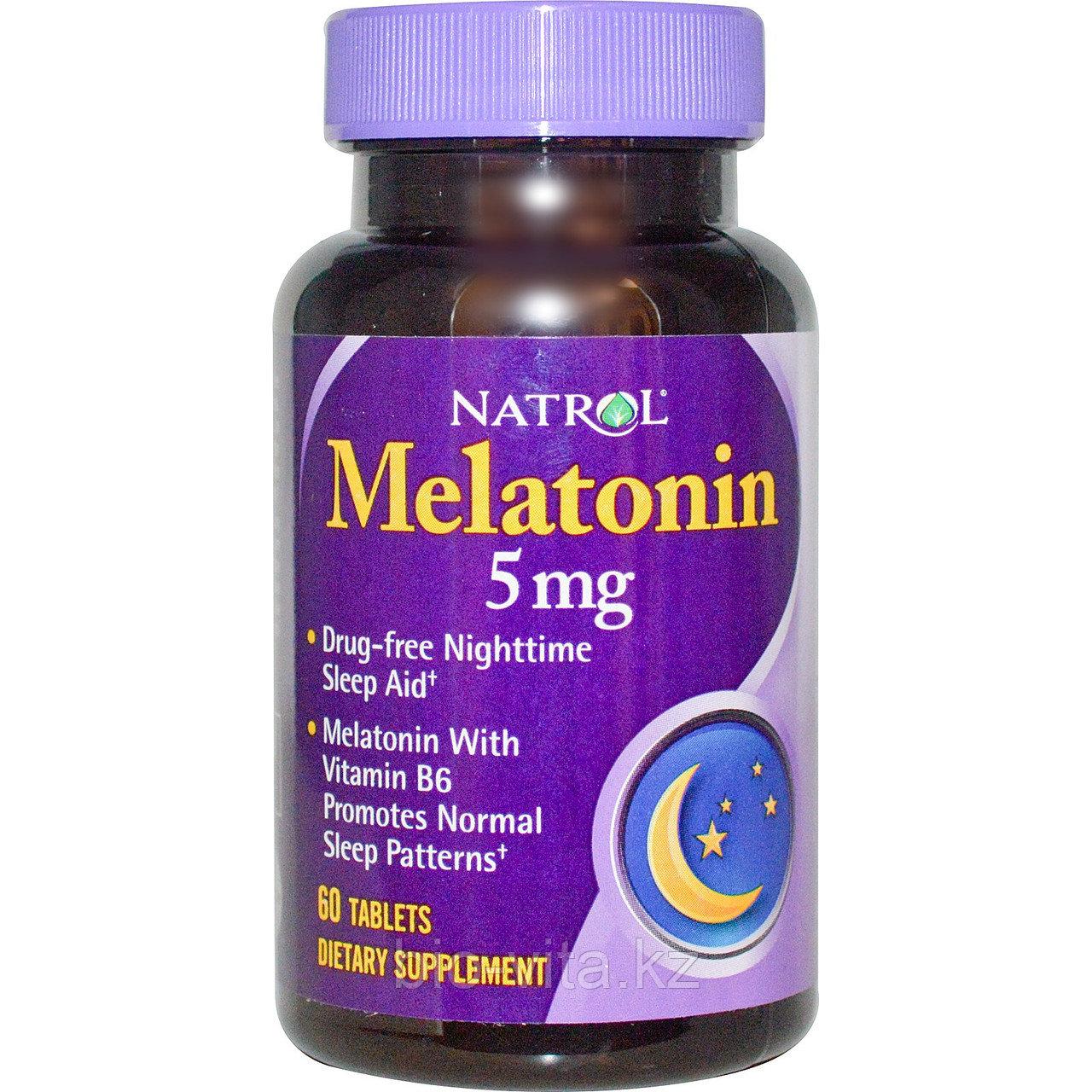 Мелатонин , 5 мг, 60 таблеток. Natrol
