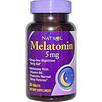 Мелатонин , 5 мг, 60 таблеток. Natrol, фото 1