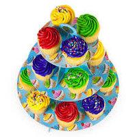 """Подставка под кексы (бумажная подставка для кексов, стенд для кексов из трех ярусов) """"3 Тier Сupcake Stand"""""""